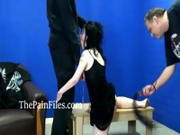 Rough spanking and blowjob domination of sexually punished slaveslut in hardcore