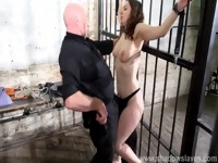 Whipped tits and rigid spanking of enslaved Beauvoir in bondage and severe bdsm
