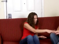 Girl looses bet and gets spanked