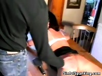 Wife Steph Takes Red Hot Spanking