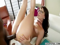 Thick ass cheeks of Eva Karera gets spank and her hole gets rammed