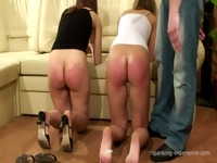 ExclusiveSpanking two girl get caned