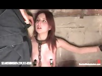 Bondage redhead meets the sexual desire