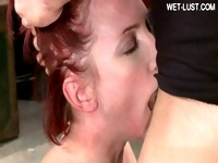 Housewife home blowjob