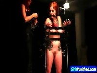 Restrained slave whipped