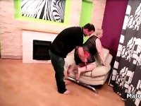 Fat blonde mature wife gets spanked