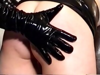 UK slut spanked by PVC Mistress
