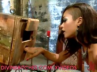 Dominatrix Skin Diamond Milks Her Slave