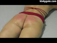 Flogging real Painful Ass of milf Julia