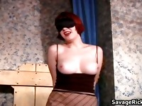 Sexy busty ginger slut gets her tits part2