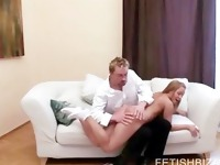 Sexy white ass getting spanked