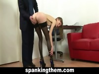 The spanking of secretary girl